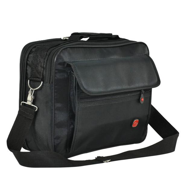 Wholesale-2016 New Waterproof Nylon Men Messenger Bags Multifunction Casual Travel Handbags Shoulder Bag Black Crossbody Bags