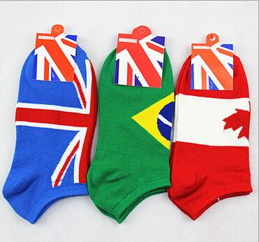 20 Pairs American Flag Invisible socks Men Funny Country Flag Designer Cotton Fashion Casual Ankle Sport Socks