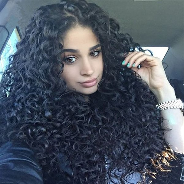 Afro Kinky Curly Full Lace Human Hair Wigs For Black Women Kinky Curly Lace Front Human Hair Wigs unpeocessed wholesale