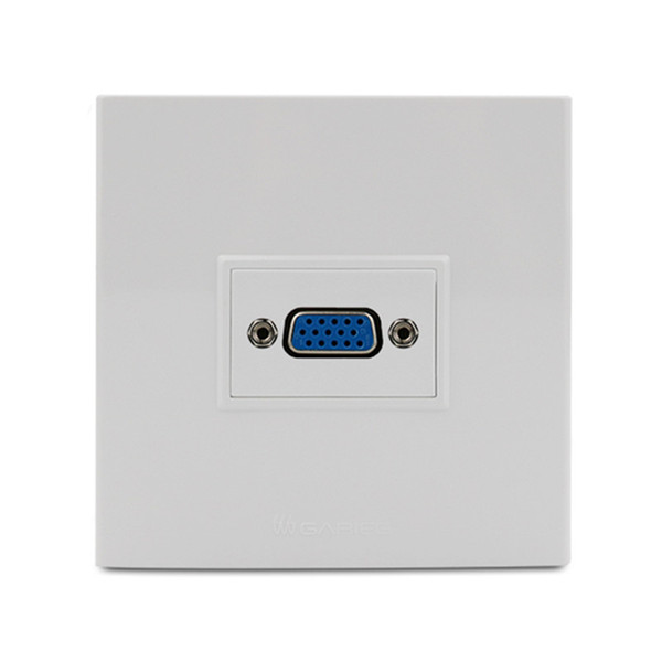 best selling VGA Faceplate Wall Plate Outlet Terminal Block Socket Panel 86mm x 86mm