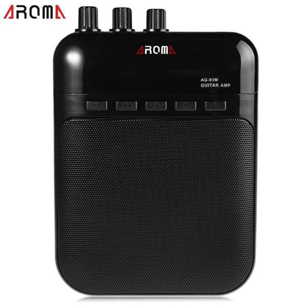 Aroma 5 W Guitar Amp Recorder altavoz ranura para tarjeta TF compacto portátil multifunción amplificador de guitarra New Arrivel