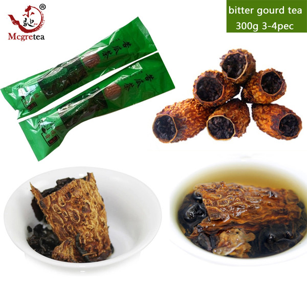 best selling [Mcgretea]300g Balsam Pear tea kugua Anxi tie kuan yin tea cellaring oolong tea bitter gourd exquisite +gift Free shipping