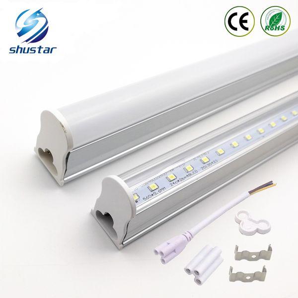 top popular 2ft 3ft T5 Led Tube Lights 4ft 22W LED Tubes SMD 2835 LED Fluorescent Light Tubes Warm Natrual Cool White AC85-265V 2021