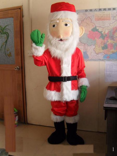 2018 Hot vente belle Santa Claus costume de mascotte mignon dessin animé vêtements usine personnalisé privé personnalisé accessoires de marche poupées vêtements de poupée