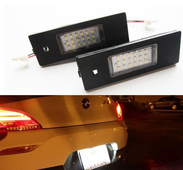 Sin errores 2Pcs18SMD BLANCO para BMW E63 / E64 / E81 / E87 / E85 / E86 LED Luz de la matrícula Envío gratis
