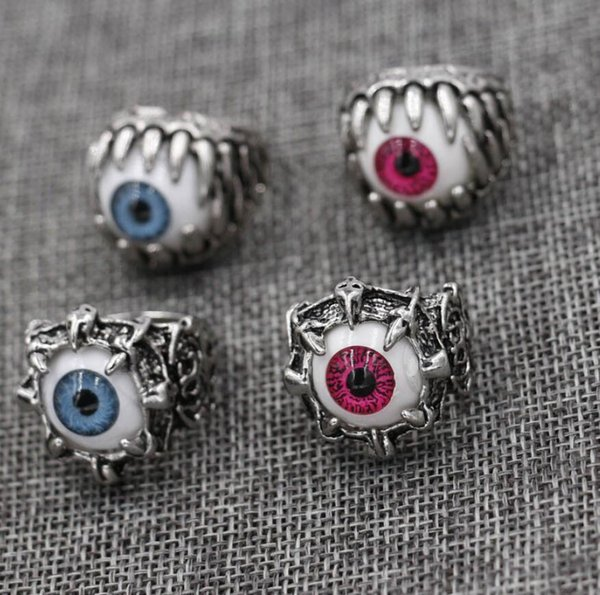 Punk Gothic Antique Silver Eye of the demon Ring Alloy Devil Eyes Rings Eye Ring US SIZE 8 9 10 11 New Arrival!