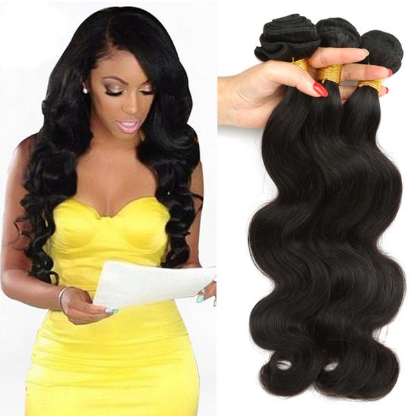 Бразильские выдвижения человеческих волос малайзийский перуанский монгольский камбоджийский необработанный волновой волны тела пачки волос Dyeable самое лучшее качество волос Weave 7A