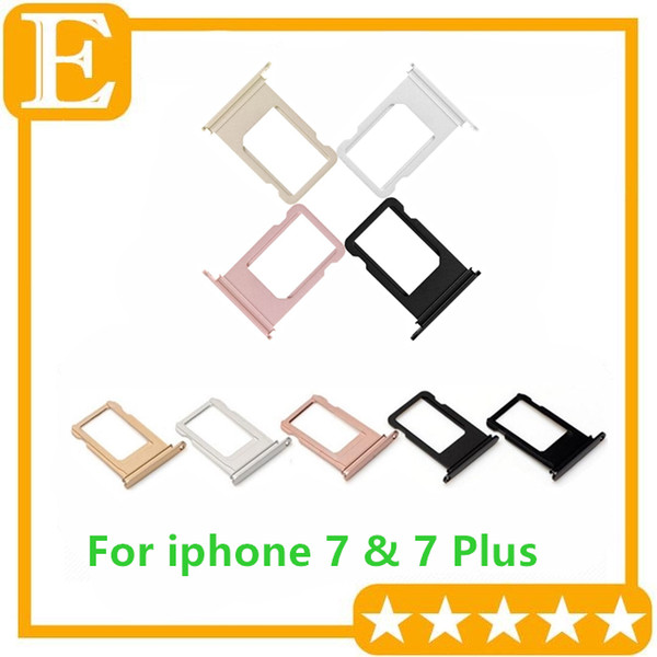 OEM NEW Sim Card Slot Tray Holder For iPhone 7G 4.7 7 Plus 5.5 inch Replacement Parts 10PCS/Lot