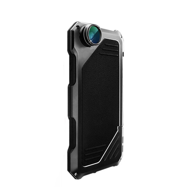 For iPhone7 Phone Case Screen Protector Shockproof Waterproof Dust proof High Impact Aluminum Alloy Case With 3 Separated Camera Lens Kit