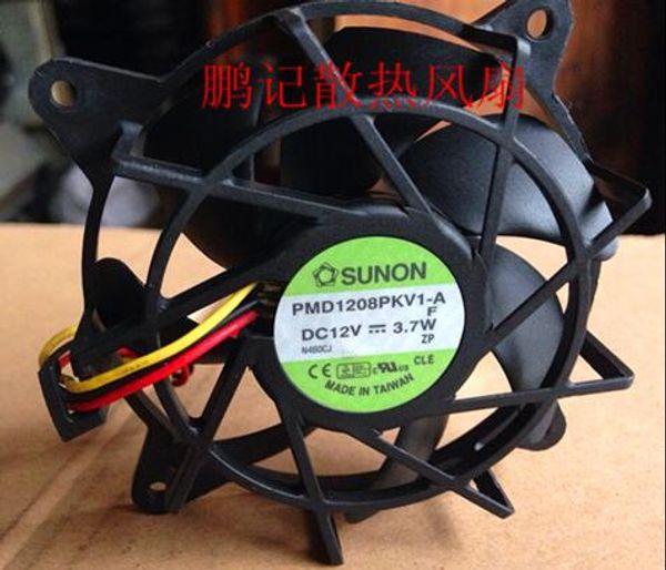 Original genuine SUNON 8020 8CM PMD1208PKV1-A DC12V 3.7W 3 line CPU cooling fan