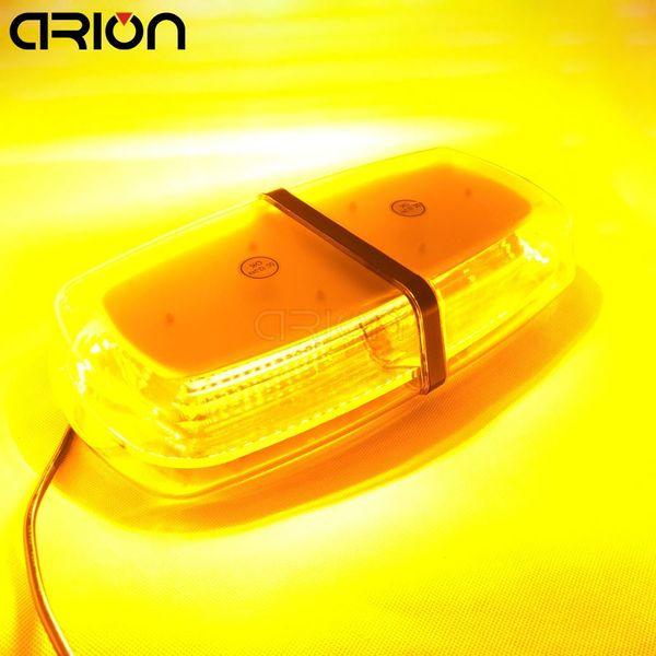 72W 72 LED 5730 SMD Car Roof Flashing Strobe Emergency Light DC 12V 24V LED Truck Police Fireman Warning Lights Amber