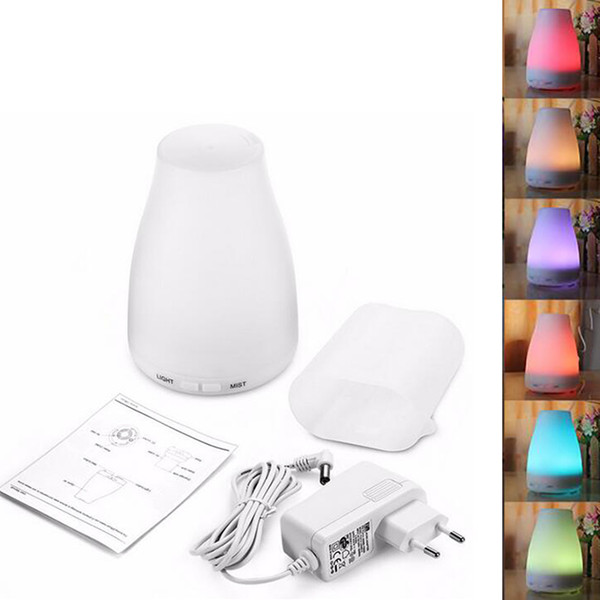 2017 new hot 12V 7w aroma diffuser 6 colors Colorful night light ultrasonic mute aromatherapy essential oils diffusers home diffuser