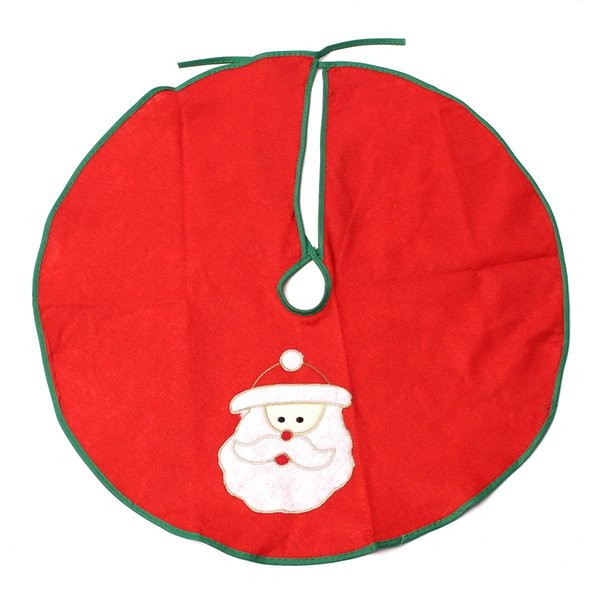 Wholesale- Santa Claus Christmas Tree Skirt Stands Ornaments Xmas Party Decoration Father Christmas 60cm Navidad Pattern