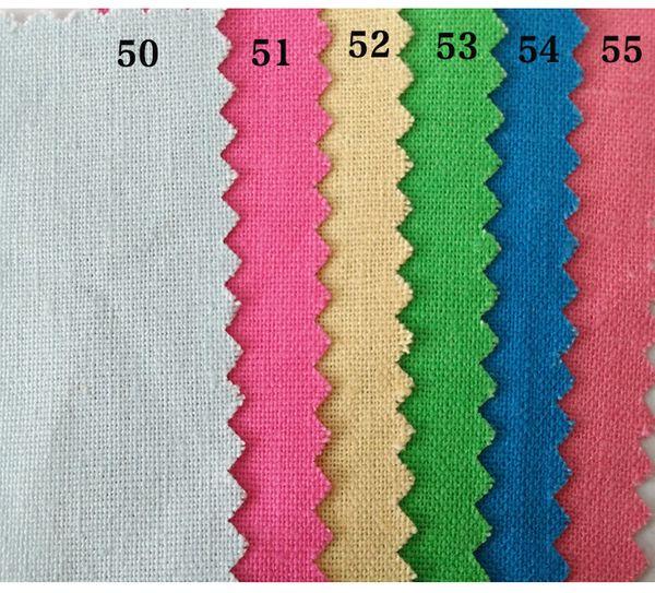 5M/LOT Hot Selling Wholesale Free Shipping Cheap Pure Color Linen-Cotton Plain Weave Cotton Fabric Crafts Decorative Cloth