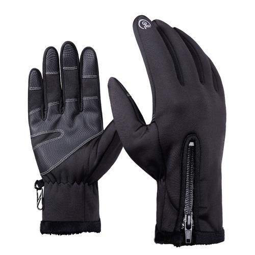 Bike Gloves Winter Thermal Windproof Warm Full Finger Man Woman Cycling Gloves