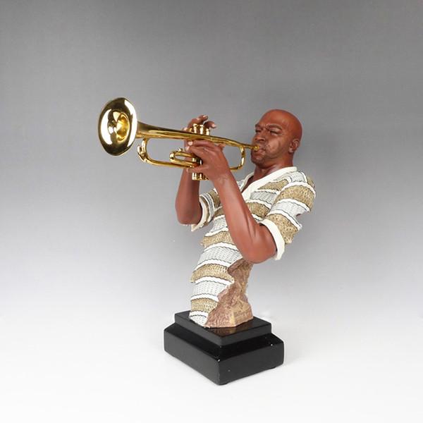 Lucky Crafts Arts Home decoration Rock music figures trumpet sculpture Club clothing store showroom crafts Desktop decoration
