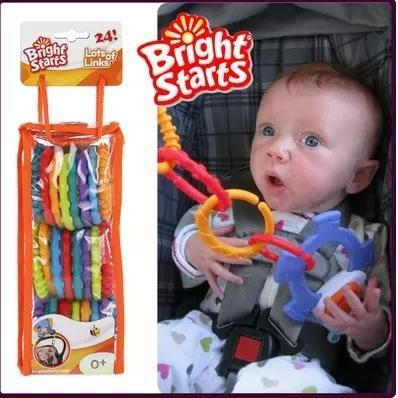 Baby Teether 24 Pieces / set Bright Starts Rainbow Ring Baby Toys Brinquedo Para Bebe Baby Teething Toys Massager