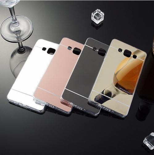Luxury Mirror Case Soft TPU Back Cover For Samsung Galaxy A3 A5 A7 2016 J3 J5 J7 S4 S5 S6 S7 Edge Plus Grand Prime Phone Cases