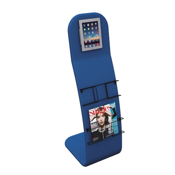 Floor iPad Stand with iPad Rack Set Brochure Stand Tension Fabric Graphic Portable Carry Bag New Come