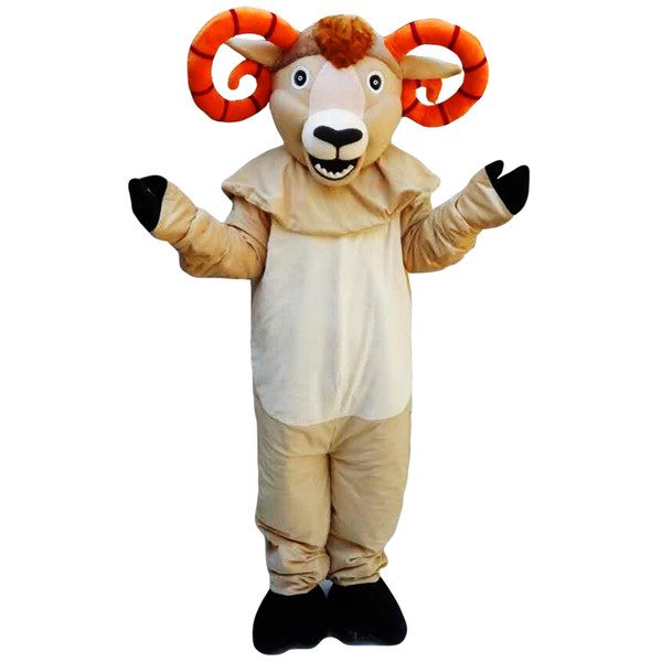 Antelope mascot costume EMS free shipping, cheap high quality carnival party Fancy plush walking goat mascot adult size.