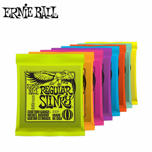 DHL Shipping Ernie Ball Super Slinky Electric Guitar Strings 009 010 Nickel Wound 6 Strings Guitar For Electric Guitar Accessories
