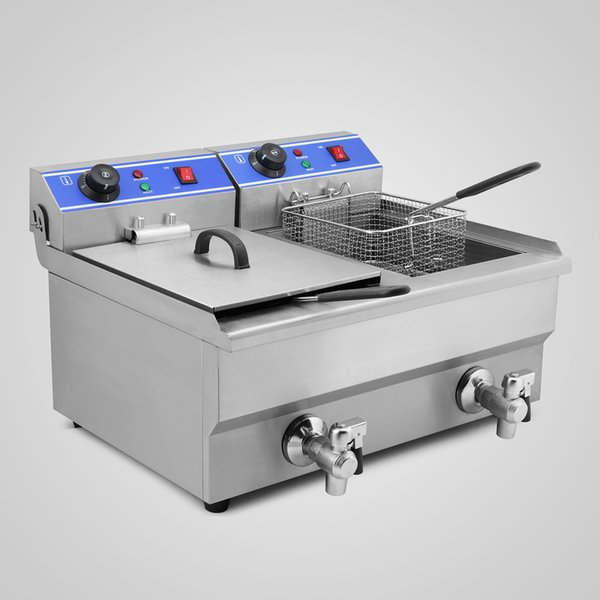 2019 Factory Price 20L 2x4KW Electric Countertop Deep Fryer Commercial  Basket French Fry Restaurant Commercial Electric Deep Fryer From Sihao,  $160.81 ...