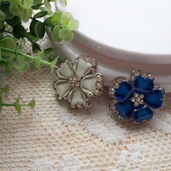 Botões de costura de metal acrílico 39mm Novo luxo cristal embutido botões de metal casaco de costura acessórios decorativos DL_BUR019