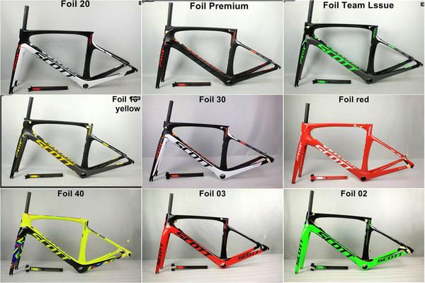 10 colores 2017 nuevo marco del camino del carbono de la hoja de T1000 marco de la bici del camino 47/49/52 / 54cm