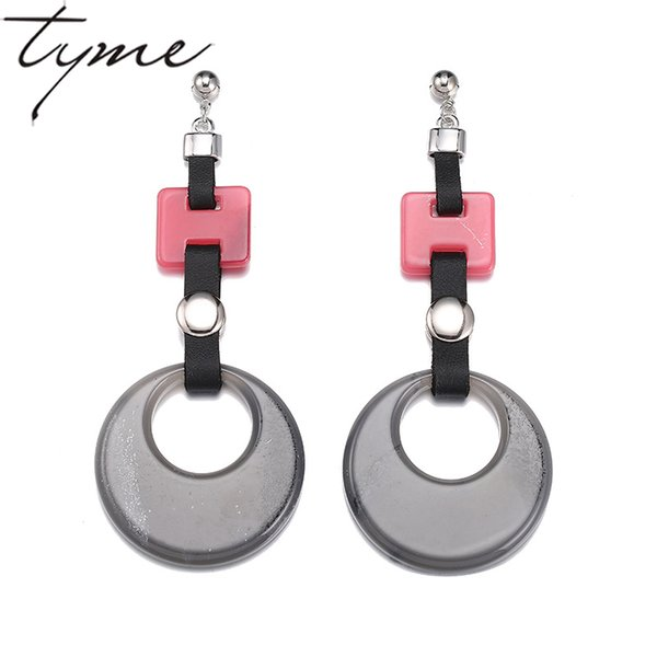 TYME Vintage Earrings Fashiom Jewelry Statement Boho Earrings Resin Long Drop Women Earrings pendientes mujer moda 2017