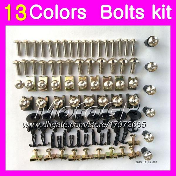 Fairing bolts full screw kit For HONDA CBR600RR 03 04 05 06 CBR600 RR CBR 600 RR 2003 2004 2005 2006 Body Nuts screws nut bolt kit 13Colors