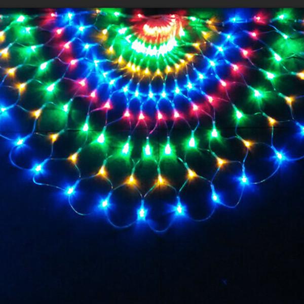 Led Lichterkette Weihnachten.Großhandel 3m 492 Led Peacock Led Lichterkette Weihnachten Hochzeit Dekorationen Vorhang Hintergrund Fairy Light Kupferdraht Führte 220v 110v Von