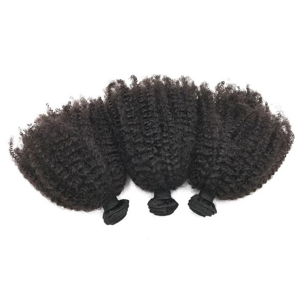 Brazilian Virgin Human Hair Bundles 3pcs Unprocessed Kinky Curly Hair Extensions No Shedding No Tangle G-EASY