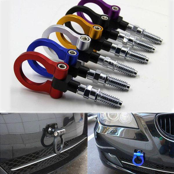 top popular Billet Aluminum Universal Car Trailer Ring Tow Towing Hook Strap 5000lbs Trailer Racing For OEM T2 EAA E81 E30 E32 E36 E90 E91 HOT 7 colors 2021