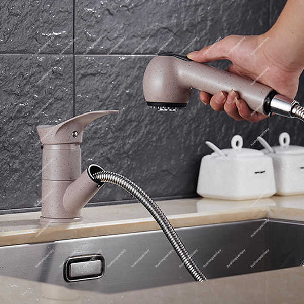 Big Promotion , kitchen sink taps With Solid Brass Pull Out Sprayer Single Handle Hole/ Mixer Faucet