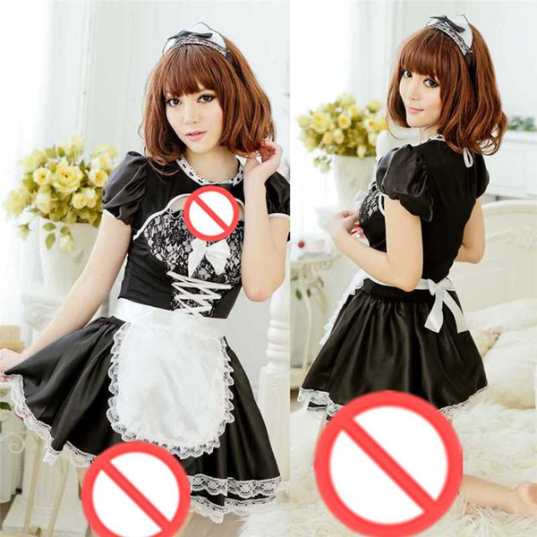 best selling Free Shipping New sexy Cosplay Lifestyle Lingerie Extreme Temptation SM Squat Clothes Maid Servant Student Set Stewardess Uniform Temptation