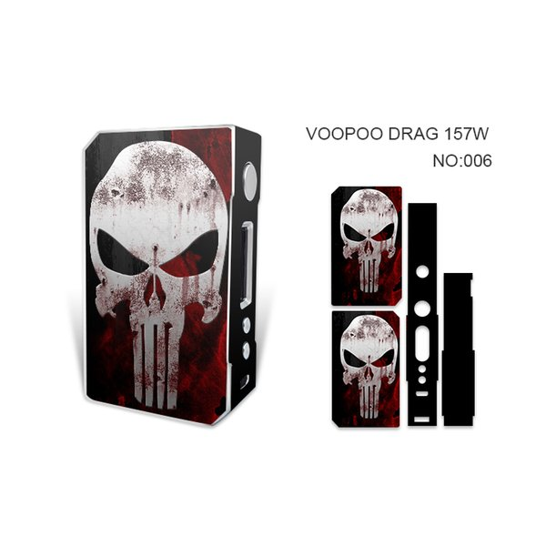 VOOPOO DRAG 157W Skin Wraps Sticker Cases Cover for DRAG 157 Watt TC Box Mod Vape Protective Film Stickers With Fashion 14 Pattern