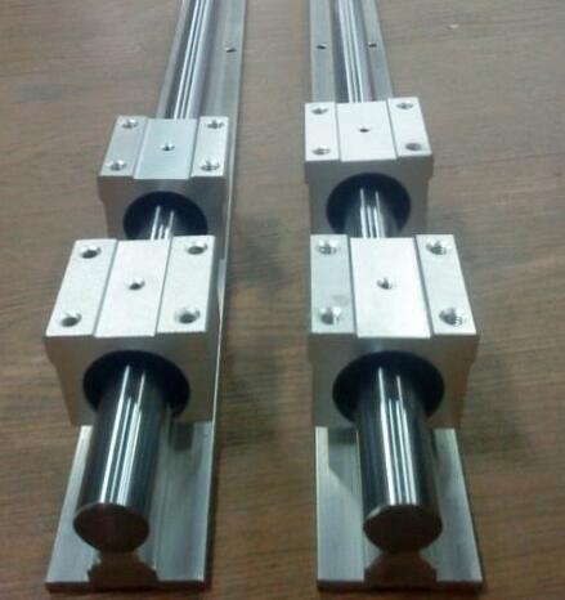 2 pcs SBR16 500mm linear guide and 4 pcs SBR16UU linear bearing blocks,sbr16 length 500mm for CNC parts