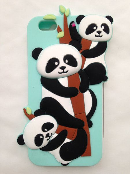 Stylish 3D Cartoon Lovely Animal Design Soft Silicone Back Case Cover for iPhone 6 6G 6S 4.7''