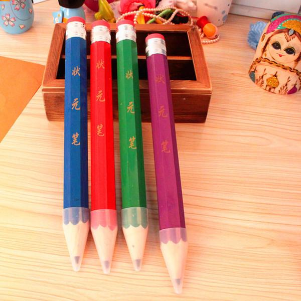 Großhandels-freies Schiff! 1lot = 8pc! Super großer hölzerner Bleistift / riesiger Charakterbleistift mit Radiergummi / kreatives Briefpapier / Kindergeschenk