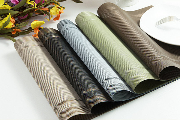 Wholesale 4pcs PVC Weave Placemats High Quality Insulating Mat Cushion Rugs Plate Matting Pad Covers Supplier Water Proof Heat Free Shipping