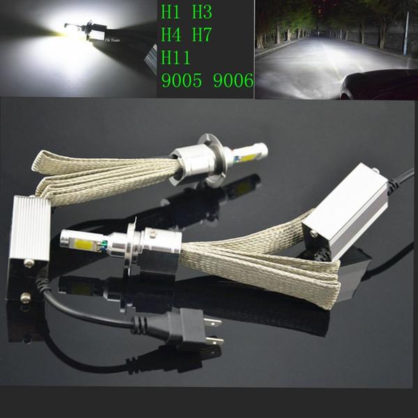2x H1 H3 H4 H7 H11 Luz de cabeza LED 30W60W 6000K 12V / 24V 3600 / 7200LM Lámpara de faro de coche de xenón blanco Kit de globos de alto y bajo bombillas