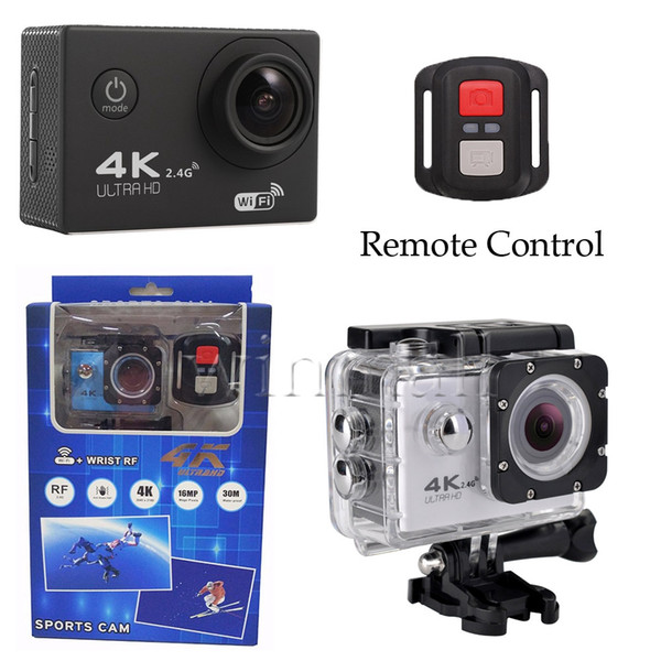 top popular Cheapest 4K Action Camera F60R WIFI 2.4G Remote Control Waterproof Video Camera 16MP 12MP 4K 30FPS Diving Recorder 2020
