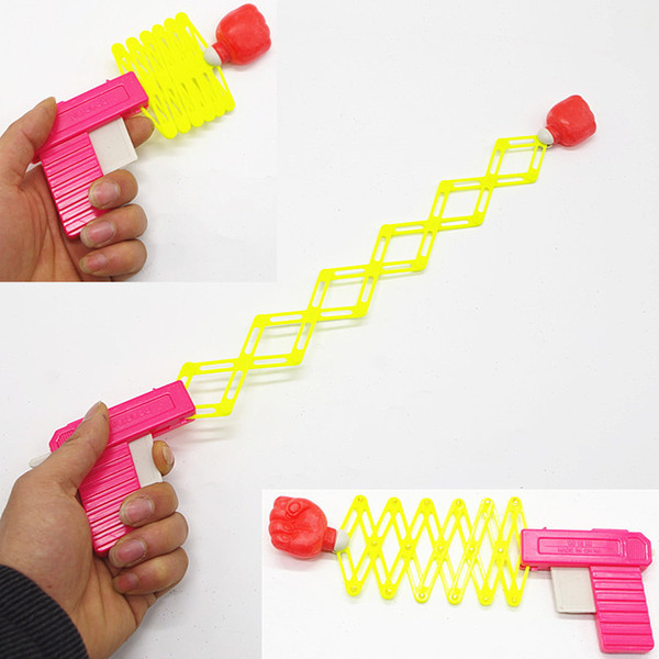 Mini children toy gun trick whimsy elastic telescopic fist nostalgic classic small toy gun gun spring magic