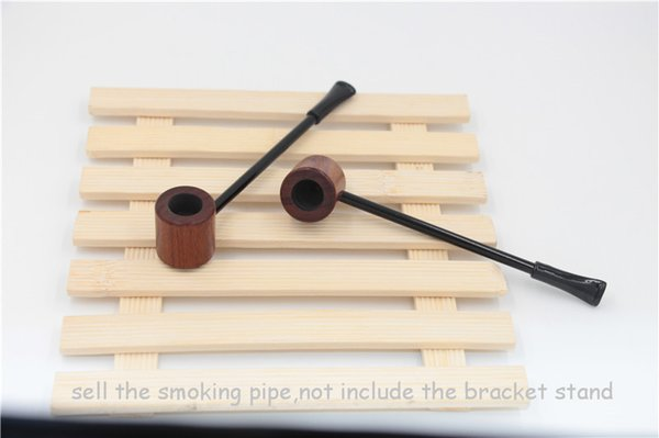 epacket free shipping USA rosewood wooden smoking pipe red Ebony wood tobacco dry herb pipes cigarette holder Mini Long Wood Pipe Men's gift