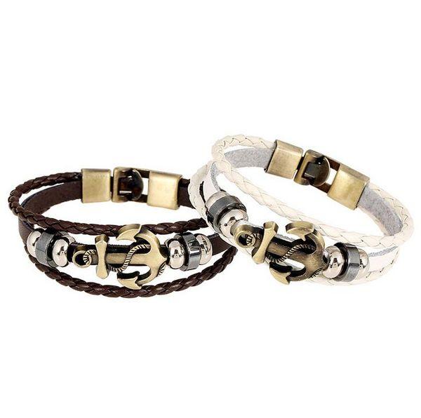 Good A++ Punk jewelry cowhide bracelet retro leather necklace FB058 mix order 20 pieces a lot Charm Bracelets
