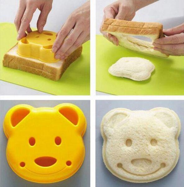 Bear Shape Bread Sandwich Cutter Biscuits Mold Cake Mould Maker DIY Cake Cutters Cartoon Bear Kitchen Tool Bakeware
