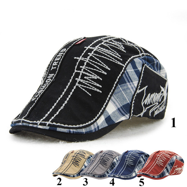 New Unisex Plaid Beret Hats for Men or Women Visor Berets Cap
