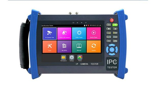 New H.265 4K 7 Inch IP CCTV Tester Monitor CVBS Camera Tester ONVIF WIFI Cable Tracer HDMI Input Output POE 12V output