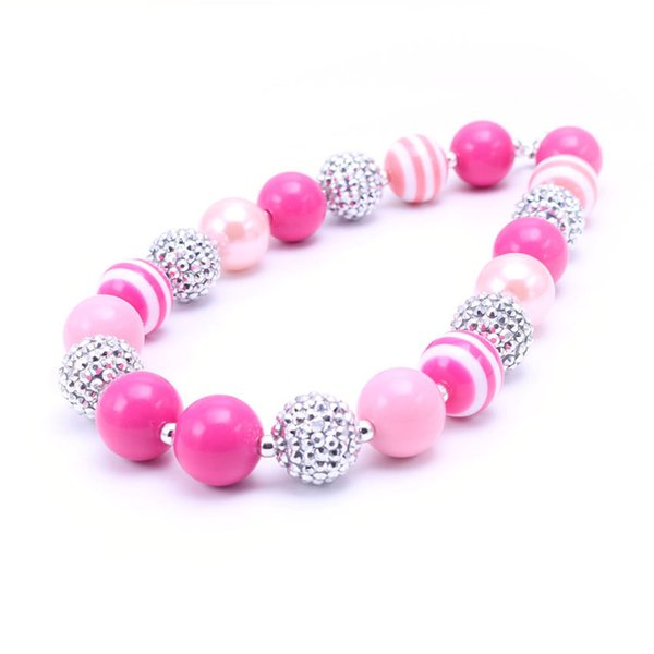 MHS.SUN Newest Design Fashion Necklace Birthday Party Gift For Toddlers Girls Beaded Bubblegum Baby Kids Chunky Necklace Jewelry