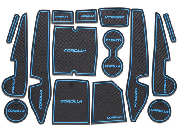 Rutschfeste Armlehne Innentür Pad / Tasse Matte 15 Stück für Toyota Corolla 2014-2017